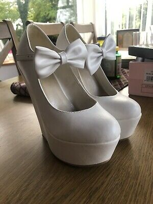 Ladies Womens Wedge Pumps Ankle Strap High Heels Platform Party Shoes Size Uk 4 • 7£