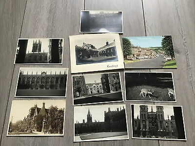 Set Of 1950s Oxford Themed Photos & Postcards - Colleges Etc • 3.99£