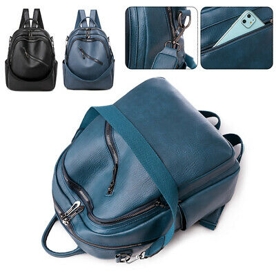 Women Ladies Backpack Travel Shoulder Bags Leather Flap Rucksack School Handbag • 14.99£