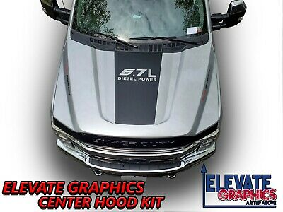 $49.95 • Buy Fits Ford F350 And F250 Center Hood Graphics 3M Vinyl Stripes Decals 2017-2021