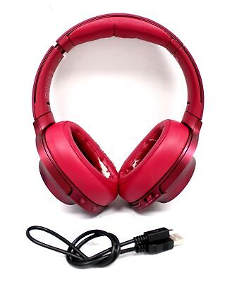 SONY MDR-100ABN Wireless Bluetooth Noise-Cancelling Headphones, Pink - Z07 • 4.99£