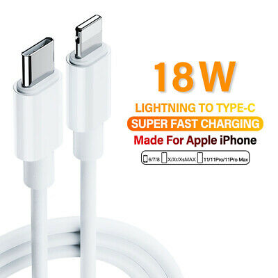 AU6.99 • Buy For IPhone 12 Pro 11 Pro Max XS IPad USB-C To Lightning Cable Fast Charger Cord