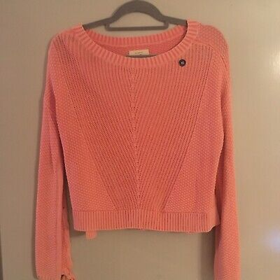 AU30 • Buy Hollister Coral Jumper Sweater Pullover Top USA Size Extra Small Xs Brand New
