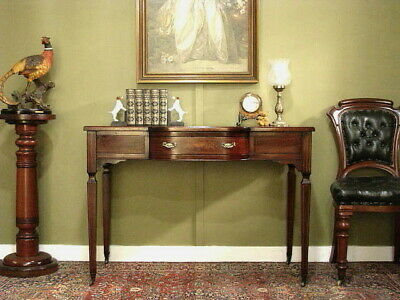 AU690 • Buy ANTIQUE MAHOGANY 1 DRAWER DESK / SIDE TABLE / HALL TABLE ~ FINE INLAY   C1900s