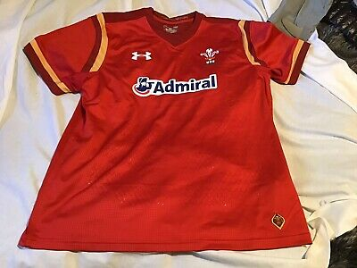 New Wales Welsh Rugby Shirt,size Large,admiral. • 14.50£