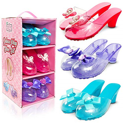 Little Fairy Princess Dress Up Shoes Set For Girls - Jelly Shoes For Kids Aged • 19.26£