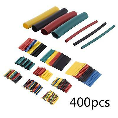 400Pc Heat Shrink Tubing Tube Sleeve Kit Car Electrical Assorted Cable Wire Wrap • 3.59£