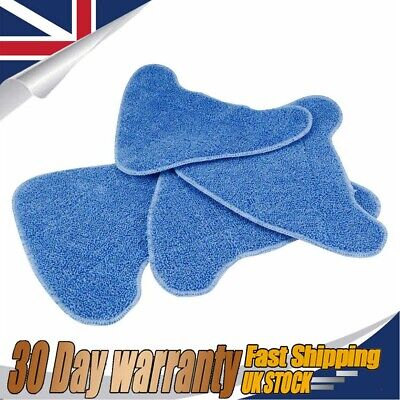 4Pcs Replacement Steam Mop Pads For VAX S86-SF-CC Steam Blue Washable UK • 9.59£