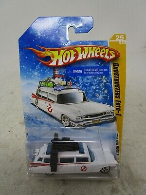 2010 Hot Wheels New Models *GHOSTBUSTERS ECTO-1 (RARE SNOWFLAKE CARD)* (SEALED) • 27.49£