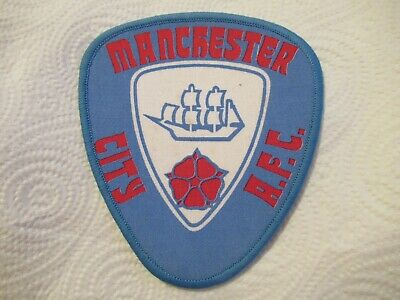 Vintage Sew On Patch - Manchester - Red Rose - Lancashire (d) • 3.99£