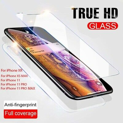 Front & Back Side Tempered Glass Screen Protector For IPhone 11 Pro XR XS MAX UK • 2.25£