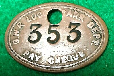 Great Western Railway Loco & Carriage Paycheck  • 1.99£