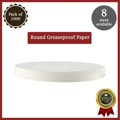 Greaseproof Circles - 6 ,7 ,8 , 9 ,10 , 12 Round Baking Paper Tin Liner 1000 Pcs • 8£
