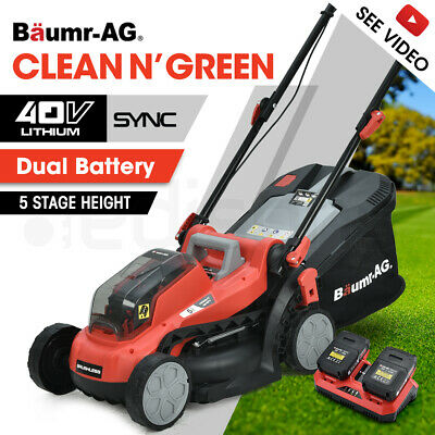 AU239 • Buy BAUMR-AG 40V Cordless Lawn Mower Kit Battery Powered Operated Electric Lawnmower