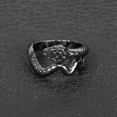 £1.89 • Buy Domineering Snake-shaped Ring Retro Personality Ring Opening Adjustable Men's