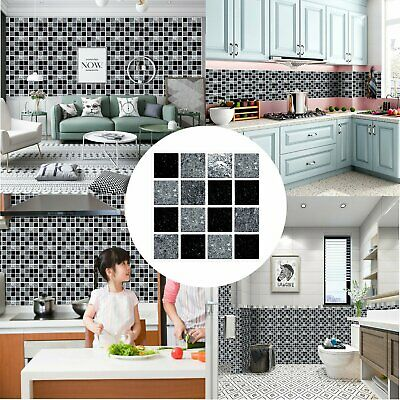 30X Kitchen Tile Stickers Bathroom Mosaic Sticker Self-adhesive Wall Home Decor • 5.35£