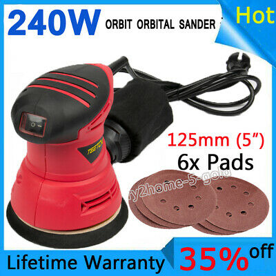 Electric Orbital Sander Random 5 Inch Rotary Palm Hand Pad Disc Power Corded • 22.90£