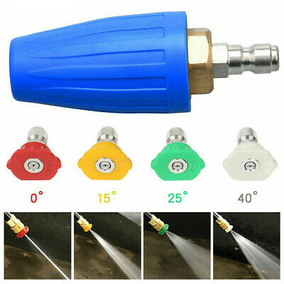 4000psi Car Power High Pressure Washer Gun Wand Lance Spray Tips Turbo Nozzles • 16.18£