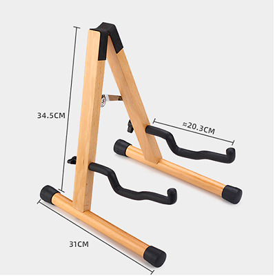 $ CDN133.33 • Buy Guitar Stand Wood Acoustic Guitar Bass Electric Guitar Stand