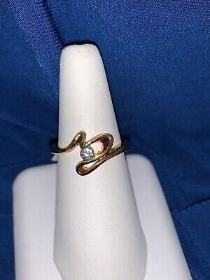 $ CDN19.30 • Buy Rare Lia Sophia Designer Signed Open Heart Crystal Gold Tone Ring Sz 9 New