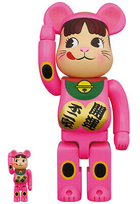 $419.99 • Buy  BE@RBRICK Peko-chan  Lucky Cat Pink100% & 400% Set MEDICOM TOY