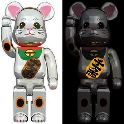 $345.99 • Buy Be@rbrick Medicom 400% 100% Bearbrick Lucky Cat Silver Reflection Ver SKy Tree
