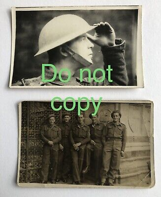2x Ww2 Period Postcard Photos Unidentified British Soldier And Royal Engineers • 6.99£