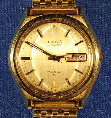 $ CDN32.22 • Buy Vintage Seiko Man's Automatic Wristwatch 17 Jewels Running