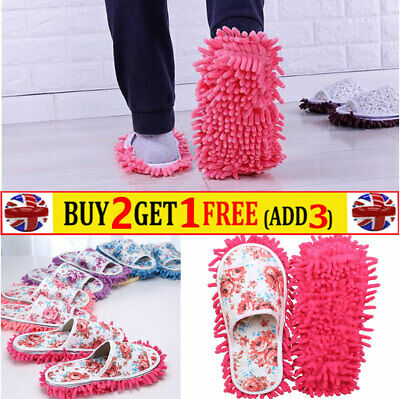 Microfiber Dust Mop Slippers Lazy Quick House Floor Home Cleaning Mop Shoes  • 5.99£