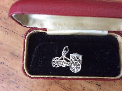 Vintage  Sterling Silver  Charm - ICES Bike, With Fully Moving Wheels  • 9.99£