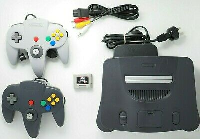AU209 • Buy Nintendo 64 Console PAL + Two Controllers + Memory N64 COMPLETE
