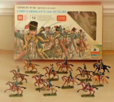 ESCI 220 1:72 Scale Soldiers Lord Cardigans 11th Hussars – Painted • 2.19£