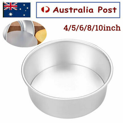 AU11.96 • Buy 4/5/6/8/10 Inch Cake Mold Round DIY Cakes Pastry Mould Baking Tin Pan Reusable