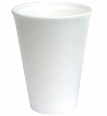 Foam/ Polystyrene Cups 28cl (10oz) 1 X 100 • 7.59£