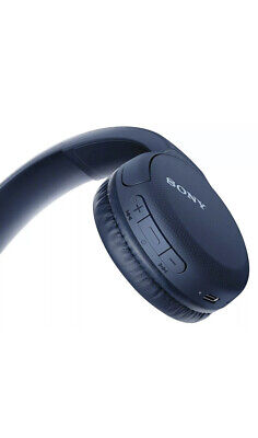 Sony WH-CH510 Wireless Bluetooth Headphones W/Mic Voice Assist Quick Charge Blue • 31.99£