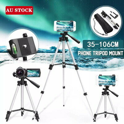AU13.05 • Buy Adjustable Camera Tripod Mount Stand Phone Holder For IPhone Samsung Universal