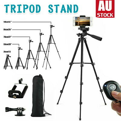 AU19.09 • Buy Professional Phone Holder Camera Tripod Stand Mount Remote For IPhone Samsung