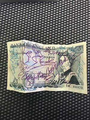 Old UK/ British £5 Five Pound Note, With Many Unknown Signatures. Poor Condi • 119.99£