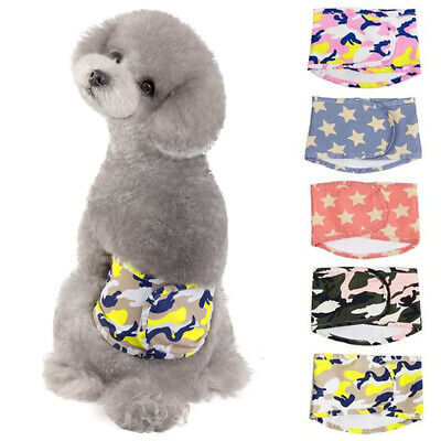 Male Dog Puppy Nappy Diapers Belly Wrap Band Sanitary Physiological Pants S-XL • 3.99£