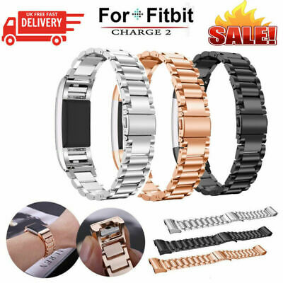 AU12.49 • Buy For Fitbit Charge 2 Watch Strap Wrist Band Stainless Steel Crystal Classic