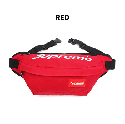 $ CDN50.18 • Buy Supreme Public Travel Hip-Colored Slings Cross Bag Red Casual Passport Purse