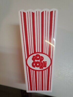 Plastic Popcorn Box 20cms Tall - Pack Of 1 • 3.99£