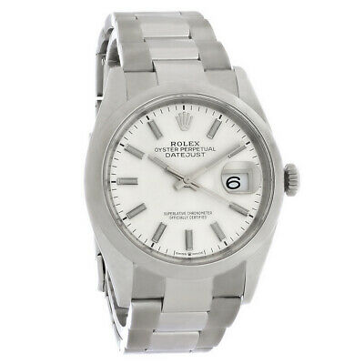 $ CDN8271.88 • Buy Rolex Datejust Mens Silver Oyster Perpetual Swiss Automatic Watch M126200