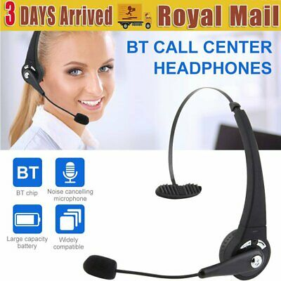 £17.29 • Buy Wireless Bluetooth Call Center Telephone Headset Office Phone Headphone With Mic