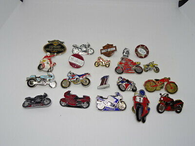 Job Lot / Collection Of 20 Various Metal & Enamel Motorbike Motorcycle Badges #2 • 49.95£