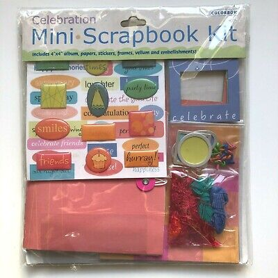 Mini Scrapbook Kit 'Celebration' Craft Creative Cards/Journal/Printing/Paper/Tag • 3.99£