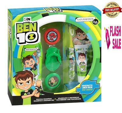 Boys Shampoo Ben 10 Kids Toy Gift Set Tootpaste And Magical Bracelet • 13.99£