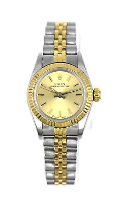 $ CDN792.87 • Buy VINTAGE ROLEX OYSTER PERPETUAL 67193 WRISTWATCH 18K YELLOW GOLD STAINLESS C1987