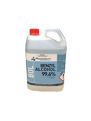 AU157 • Buy 5l 99.6% Pharmaceutical Grade Benzyl Alcohol Usp (undiluted) Free Postage Aus