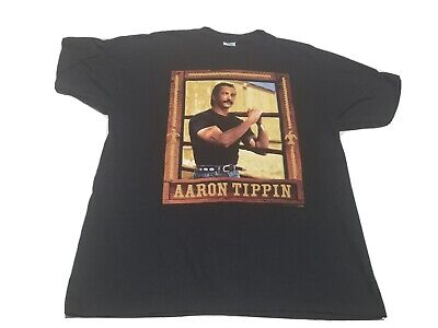 $ CDN26.42 • Buy Vintage Aaron Tippin T-Shirt XL Single Stitch Country Black Two Sided 1995